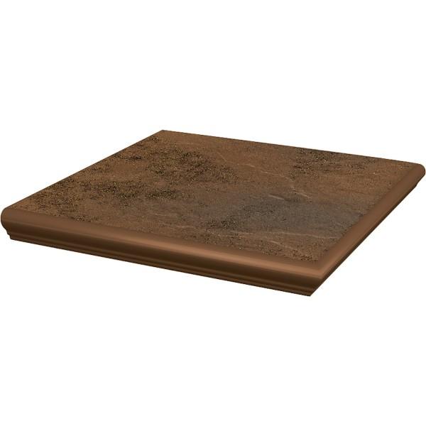 SEMIR Beige stopnica z kapinosem narożna 33x33x1,1