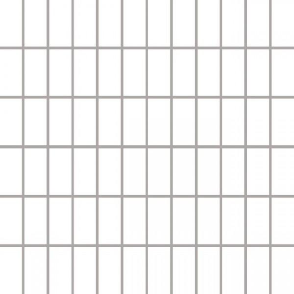 ALBIR BIANCO mozaika 30x30, kostka 2,3x4,8