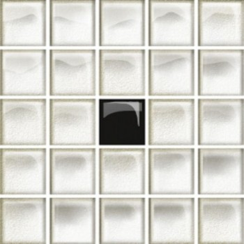 Glass White/Black Mosaic A New 14,8x14,8