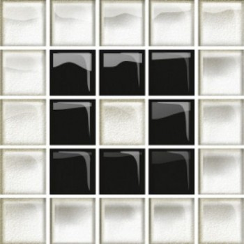 Glass White/Black Mosaic B New 14,8x14,8