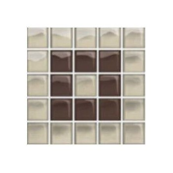 Glass Beige/Brown Mosaic B 14,8x14,8