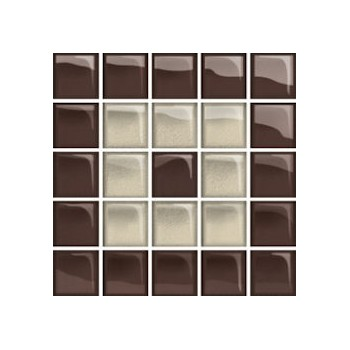 Glass Beige/Brown Mosaic C New 14,8x14,8