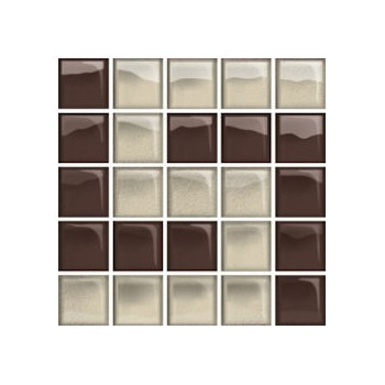 Glass Beige/Brown Mosaic D New 14,8x14,8