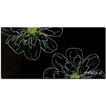 fluorescent flower green inserto 29,7x60