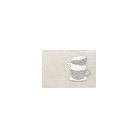 Dekor ścienny Gris cup 36x25