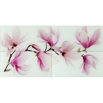 Obraz ścienny szklany 4-elementowy Tango flower 89,8 x 44,8