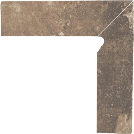 Cokół schodowy dwuelementowy Scandiano Ochra Prawy 30x30
