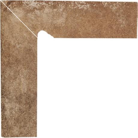 Cokół schodowy dwuelementowy Scandiano Rosso Lewy 30x30
