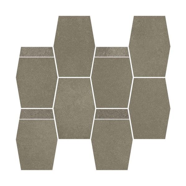 Naturstone Antracite mozaika cięta hexagon mix 28,6x23,3