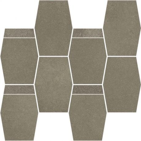 Naturstone Antracite mozaika cięta hexagon mix 28,6x23,3 GAT.I
