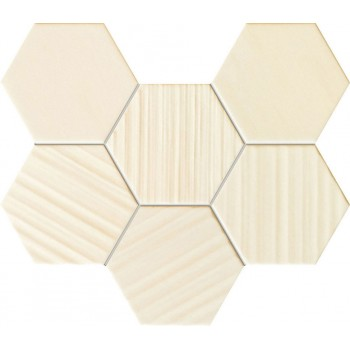 Horizon hex ivory mozaika 289x221