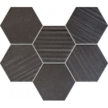 Horizon hex black mozaika 289x221