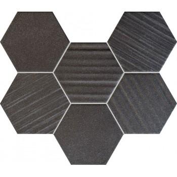 Horizon hex black mozaika 289x221