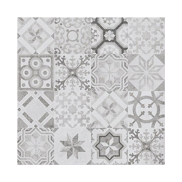 CONCRETE STYLE INSERTO PATCHWORK 42x42