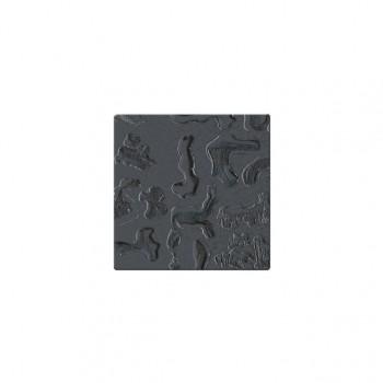 Mozaika szklana Componer grafit struktura 123x123x6 mm Nr 19  A-CGL06-XX-019