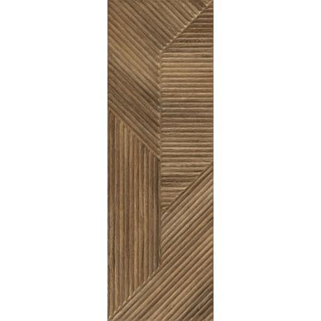 Woodskin Brown Ściana B Struktura Rekt. 29.8x89.8 GAT.I