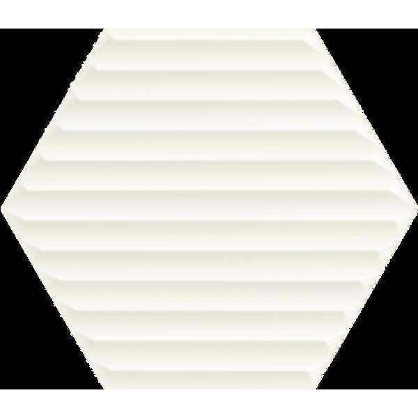 Woodskin Bianco Heksagon Struktura B Ściana 19,8x17,1 GAT.I