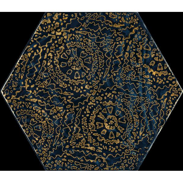 Urban Colours Blue Inserto Szklane Heksagon A 19.8x17.1 GAT.I
