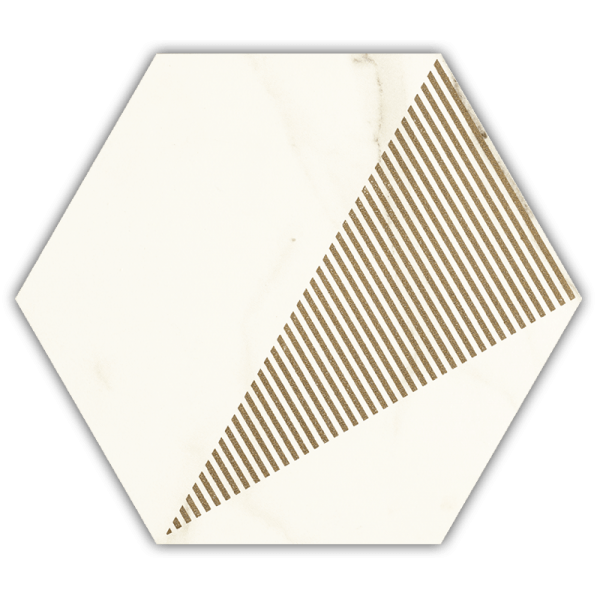 Calacatta Hexagon Mat. C 17.1x19.8 GAT.I