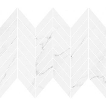 MARINEL WHITE CHEVRON MOSAIC GLOSSY