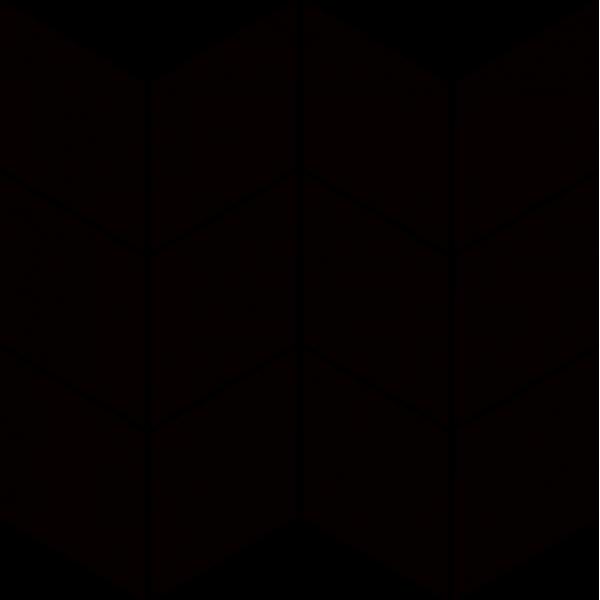 Uniwersalna Mozaika Prasowana Nero Paradyż Romb Braid 20.4x23.8 GAT.I