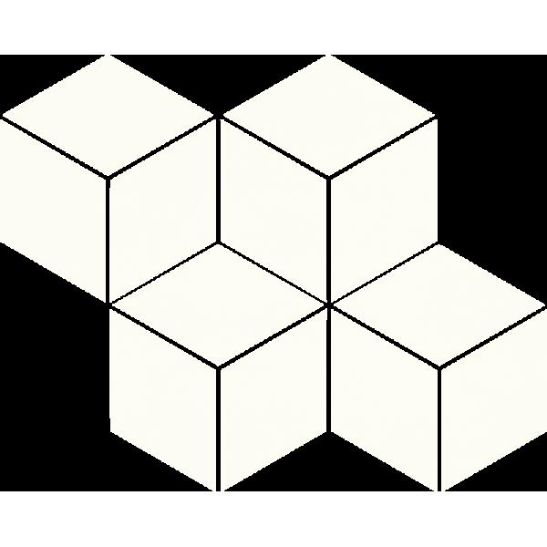 Uniwersalna Mozaika Prasowana Bianco Paradyż Romb Hexagon 20.4x23.8 GAT.I