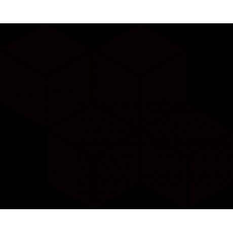 Uniwersalna Mozaika Prasowana Nero Paradyż Romb Hexagon 23.8x20.4 GAT.I