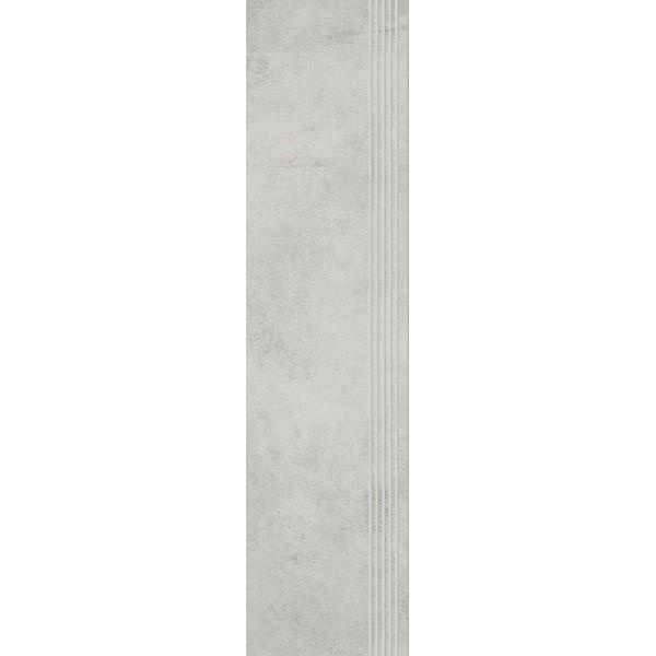 Scratch Bianco Stopnica Prosta Nacinana Mat. 29.8x119.8 GAT.I