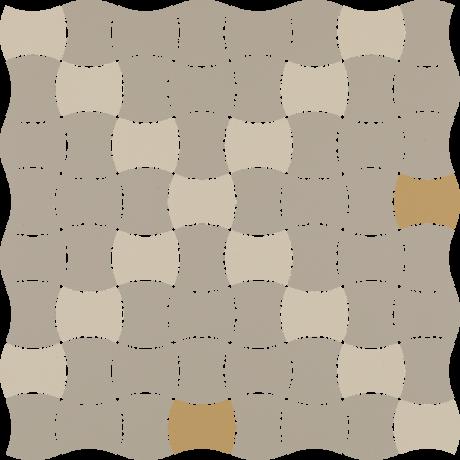 Modernizm Bianco Mozaika Prasowana K.3,6X4,4 Mix D 30.9x30.9GAT.I