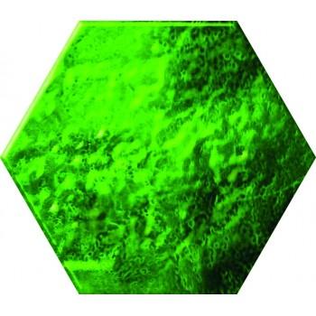 Green glass Hexagon 12,5x14...