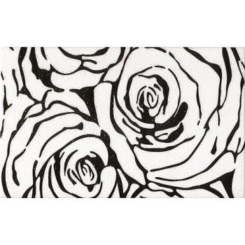 Dekor Rosa Negro 25x40 GAT.I